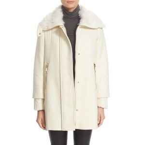 Calipso Wool Blend Jacket w/ Genuine Kalgan Fur